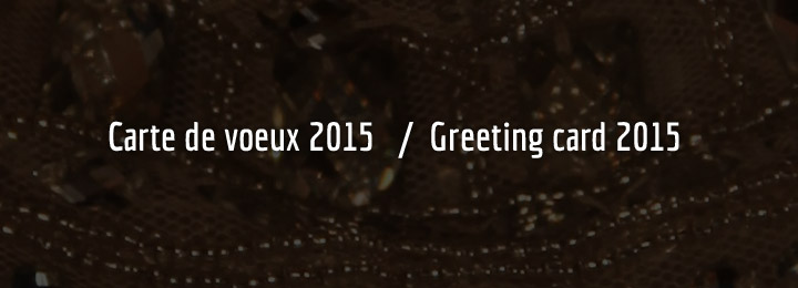 Carte de voeux 2015 / Greeting card 2015