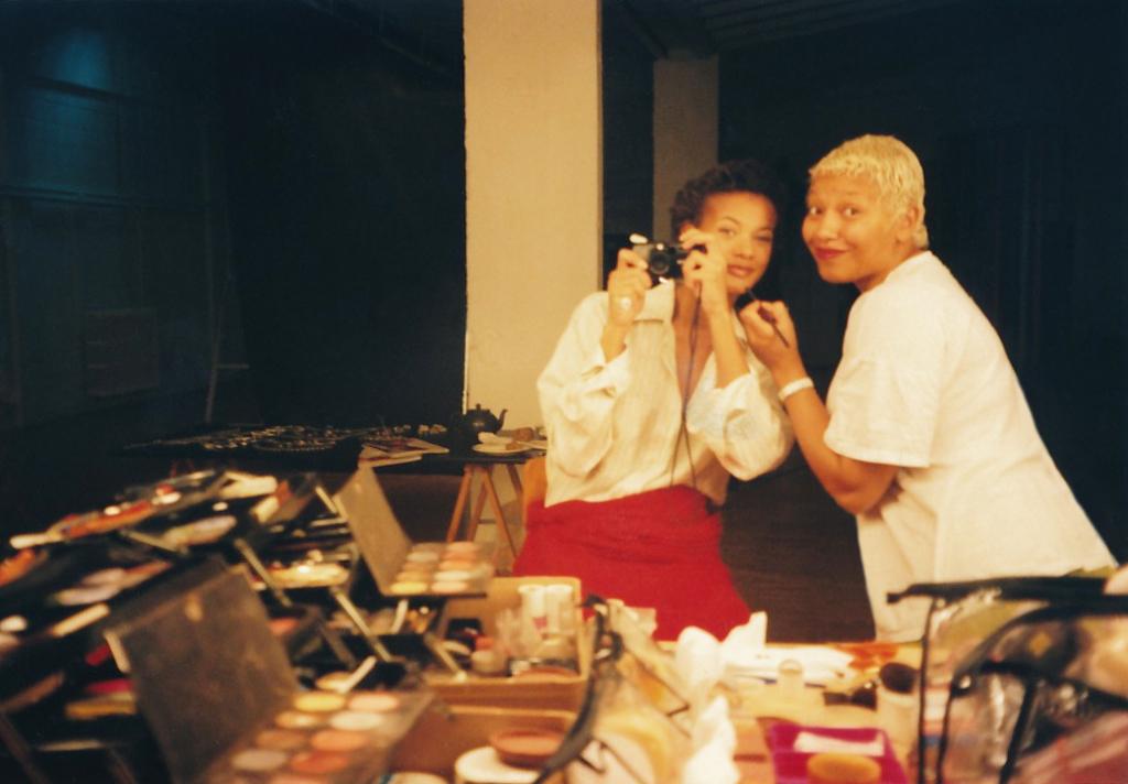 ©Véra et Christine Atchou dans les années 90 mannequin et maquilleuse